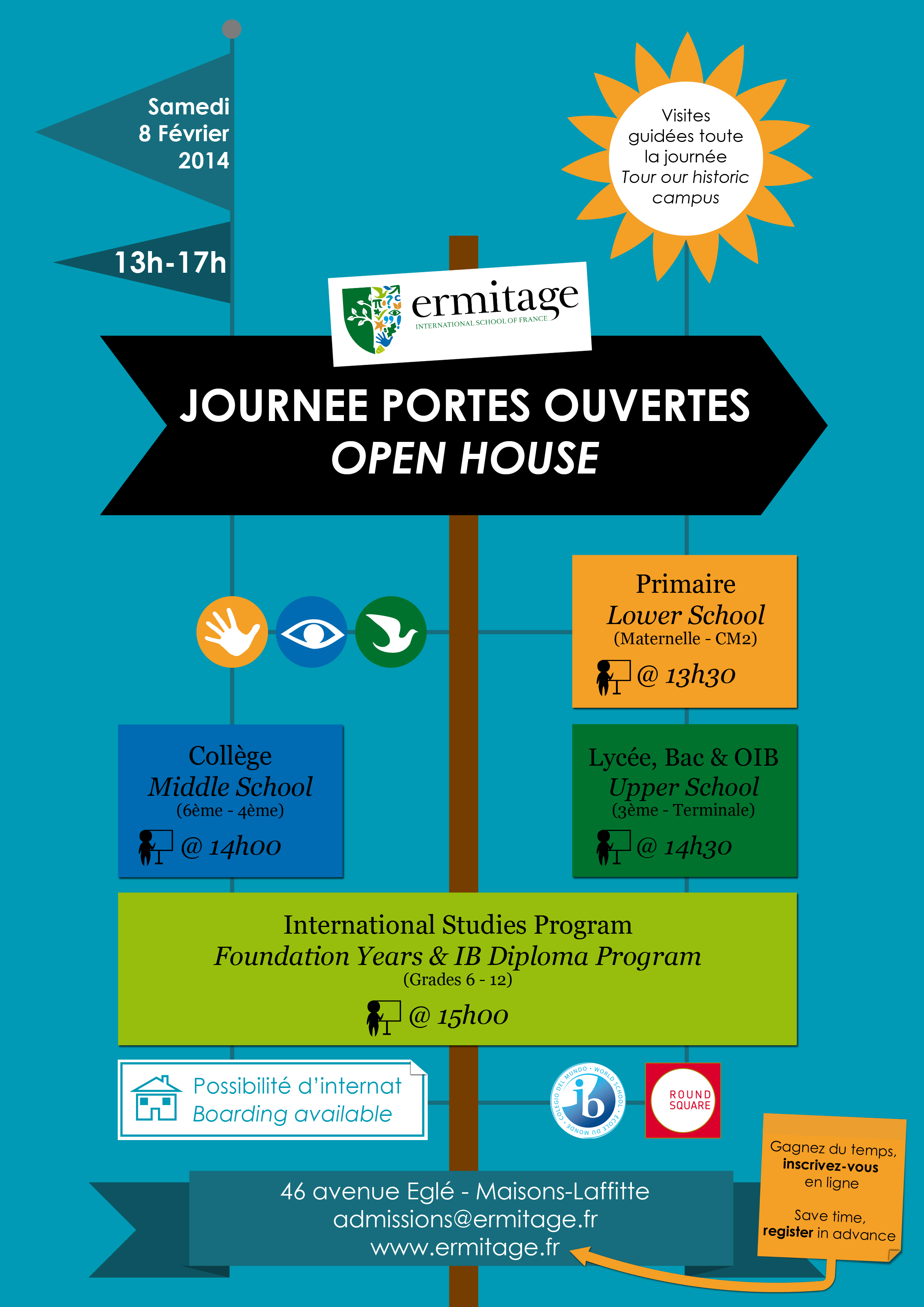 Ermitage international school of france calendar for Open house photos